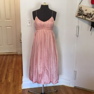 Tracy Feith pink vintage inspired midi dress